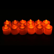 12Pcs Tea Light Candle Tealight Flameless Flickering Battery Wedding Party Home
