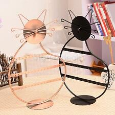 Kitty Kitten Cat Shape Earring Necklace Jewelry Display Stand Holder Show Rack