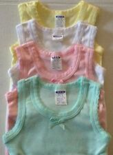 NEW 4 SET GIRL'S CAMISOLE TANK TOP COTTON UNDERSHIRT & MATCHING COLOR PANTY SETS