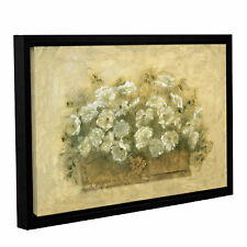 'White Floral Bouquet' by Cheri Blum Framed Painting Print on Wrapped Canvas