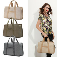 Linen Women Travel Bag Hand Luggage Shoulder Bag Sports Gym Bag Tote Handbag New