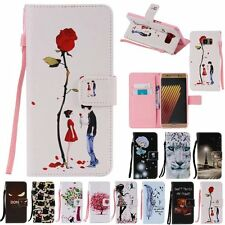 Vintage Stand Flip Wallet Leather Hybrid Case Cover For Samsung Galaxy Note 7 5