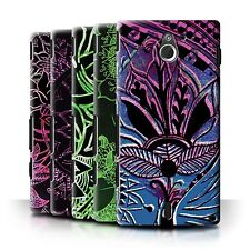 STUFF4 Back Case/Cover/Skin for Sony Xperia Sola/MT27i/Henna Paisley Flower