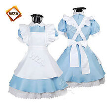 Alice In Wonderland Waitress Maid Cosplay Halloween Costume Lolita Dress Adult