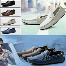 Men Spring Autumn Comfortable Faux Leather Slip-On Flat Casual Shoes Exotic