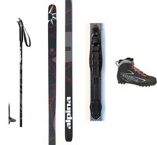 NEW ALPINA CONTROL XC CROSS COUNTRY NNN SKIS/BINDINGS/BOOTS/POLES PACKAGE -200cm