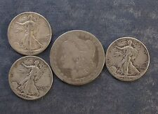 "Lot: $2.50 Face Value US 90% Silver Coins, ""Junk Silver"", pre-1965 - No Reserve"