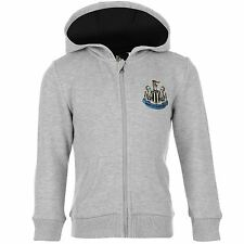 NUFC Kids Infant Boys Childrens Zip Hoody Hooded Hoodie Long Sleeve Top
