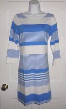 NWT LILLY PULITZER BAY BLUE COCONUT STRIPE MARLOWE DRESS M L XL