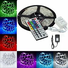 5M/10M/15M RGB 3528/5050/5630 SMD Flexible Lamp LED Strip Light Adapter 24/44Key