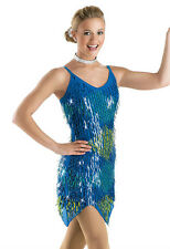 NEW 'Electric Feel' Blue Glamour Tap Jazz Theatre Dance Competition Costume