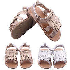 Infant Baby Girl's Tassels Sandals Shoes Anti Slip Soft Sole Prewalkers Eyeful