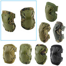Tactical Airsoft Adjustable Elbow & Knee Protective Pads Knee Pad Skate Combat