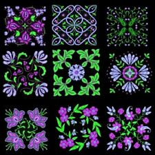 Anemone Quilt Squares 2 Machine Embroidery Designs CD- 45 Anemone Designs