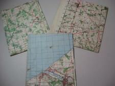3 x WW2 Maps Army maps France Cleres Eu north of Dieppe & Yvetot