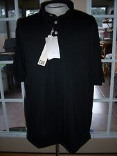 MENS CUTTER & BUCK POLO GOLF SHIRT CB DRYTEC LUXE XXL BLACK NWT BREATHABLE
