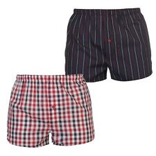 Mega Value Mens Woven Boxers 2 Pack Patterned Underwear Accessories