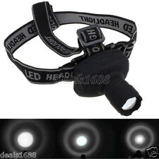 3-Mode Focus CREE Q5 1000Lumens LED Zoomable Headlamp AAA Head Torch Light Lamp