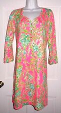 NWT LILLY PULITZER FLAMINGO PINK SOUTHERN CHARM PALMETTO  DRESS L XL