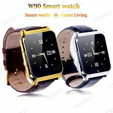 W90 Smart Wrist Watch SIM Phone Mate Bluetooth Camera For iPhone Android Samsung
