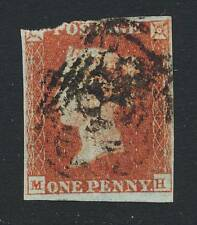GB 1841 1d RED,  IMPERF, (MH) USED