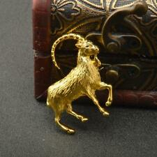 Fashion Chinese Zodiac Goat Sheep Pin Brooch Antique Silver/Gold Breastpin Gift