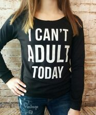 NWT Boutique I Can't Adult Today Raglan Sweatshirt - Small, Medium & Large