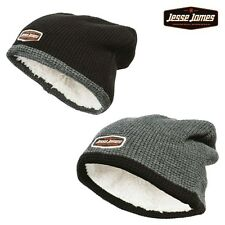 Jesse James Beanie Lined Knitted Cap padded West Coast Choppers Men's