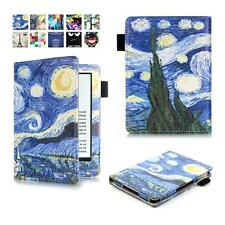 CY-Painting Folding Slim PU Leather Case For Amazon 2016 New Kindle 6inch ebook