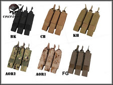 Tactical Airsoft Hunting Molle Modular Triple MAG Pouch For MP7 Magazine