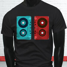 3D CASSETTE TAPE RETRO HIP HOP MIX TAPE RAP 90S Mens Black T-Shirt