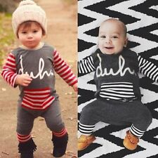 Kids Baby Boys Warm Infant Long Sleeve Romper Jumpsuit Bodysuit Clothes Outfits