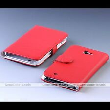 PU Leather Flip Case Cover Protector For Samsung Galaxy Note i9220 Pick Color