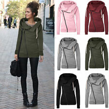 Womens Hoodie Sweatshirt Hooded Pullover Jumper Tracksuit Hoody Coat Tops Blouse