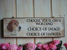 HANDMADE TO ORDER DOG SIGN BEAGLE SIGN OWN WORDING NAME PLAQUE HOUSE SIGN GARDEN