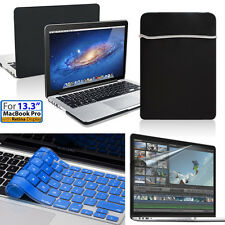 """[Protection Series]Rubber Case,Soft Bag, Navy keyboard,Film Macbook Pro 13.3""""13"""""""