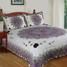 Cozy Line Home Fashion Pansy's Field Quilt Set