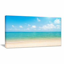 Design Art 'Wide View of Tropical Beach' Photographic Print on Wrapped Canvas