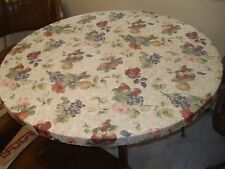 "2 Round Fitted Tablecloth Various Designs 39-44"" Bistro Patio table cover"