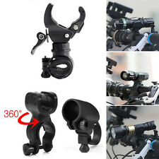 Cycling Bicycle Bike Led Flashlight Holder Front light Mount Clip Torch Bracket