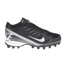 NWB Nike Youth Land Shark 3/4 GS Football Cleats Black and Silver