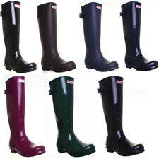Hunter Wellington Boots Original Back Adjustable Womens Rubber Rain Wellies