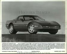 1989 Press Photo Auto: Chevrolet's Corvette ZR1, available in spring 1989