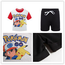 Kids Boys Girls Toddlers Pokemon GO Cute Pikachu Cartoon Tops T Shirt Tees 3-10T