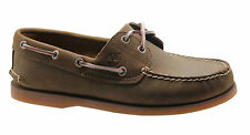 Timberland Classic Icon 2 Eye Mens Boat Shoes Brown Leather Lace Up 1001R U11
