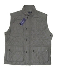 $2,495 Ralph Lauren Purple Label Mens Italy Wool Button Zip Buckle Vest Jacket
