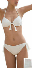 sexy Push up Bikini Neckholder cream white Swimwear XS S M L XL 2X Laundry bags