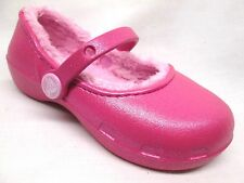 Crocs Karin Fuzzy Lined Mary Janes Little Girls/Big Girls Party Pink