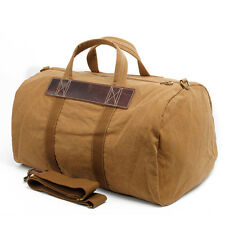 Canvas Sports Travel Luggage Carry Shoulder Bag Overnight Duffle Bag Weekend Bag