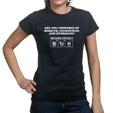 Bitch Chemical Elements Periodic Table Womens Ladies T shirt Tee Top T-shirt